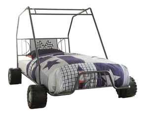 Xander Twin Bed in Gunmetal Go Kart