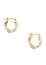 Load image into Gallery viewer, ISABELLE Twist Hoop Earrings