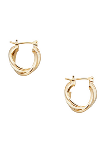ISABELLE Twist Hoop Earrings