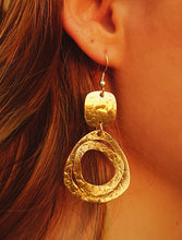Load image into Gallery viewer, Boho Brass Dangle Earrings