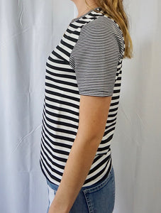 Dual Stripe Short Sleeve Top - Shop Sahara