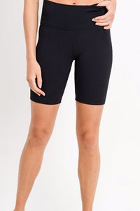 Trendy and cute, these biker shorts are a perfect addition to any wardrobe. Made with ribbed fabric for a thick short and lasting comfort at an affordable price.