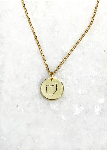 Ohio Stamped Necklace