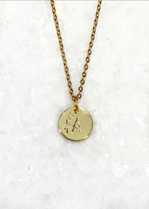 Twinkle Initial Stamped Necklace