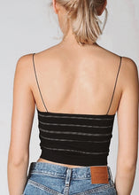 "Load image into Gallery viewer, ""BABY"" Seamless Cami - Black Striped"