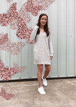 Load image into Gallery viewer, Sidelines Stripe Dress