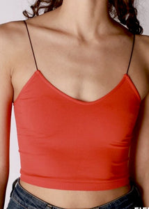 """BABY"" Seamless Cami - Red"