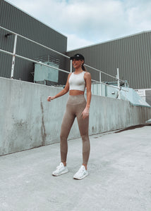 """HAZEY"" Taupe Leggings"