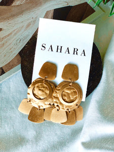 Dangle Gold Earrings - Shop Sahara
