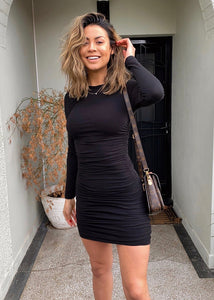 RAVEN Bodycon Dress - Black