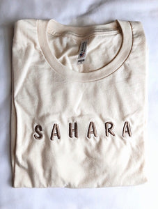 Embroidered Short Sleeve T-Shirt - Shop Sahara