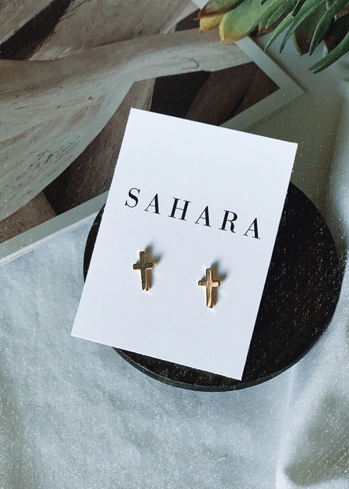 Cross Studs - Shop Sahara