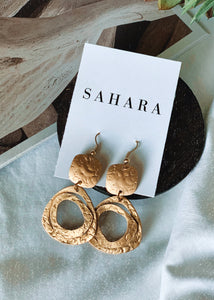 Boho Brass Dangle Earrings - Shop Sahara