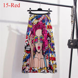 Custom Product - Colorful Classy Pleated Skirt