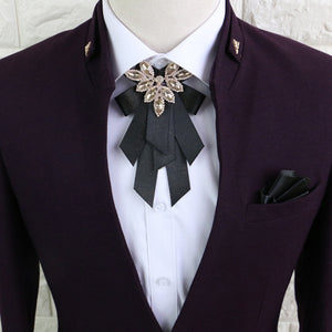 High-end Brooch pre-tied Bow tie