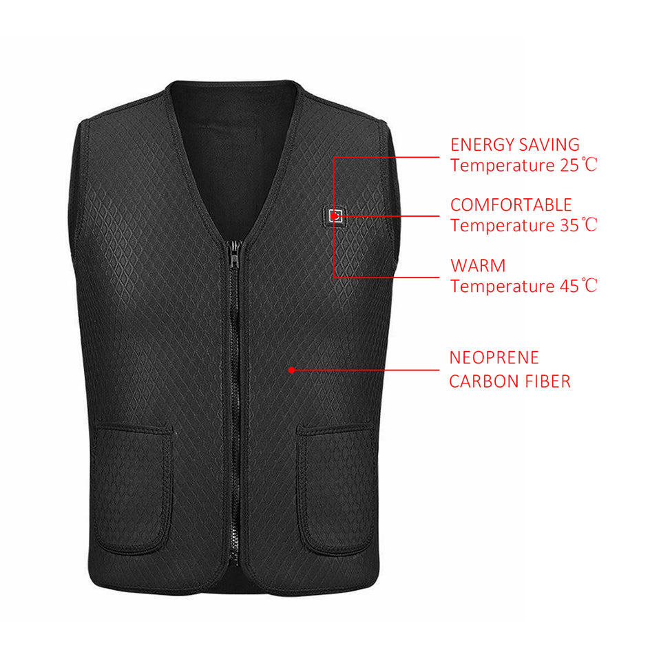 Heated Rechargeable Winter Vest