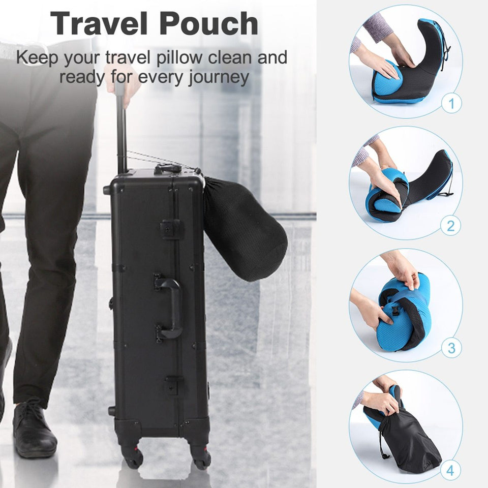 Travel Pillow with Detachable Hood