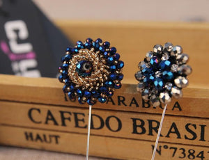 5PC Handmade Rhinestone Lapel Pins