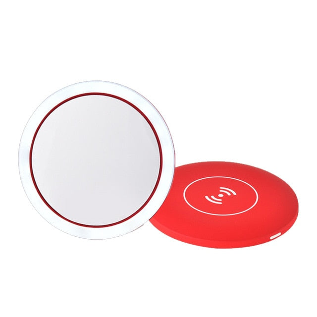Wireless Charging LED Compact Mirror