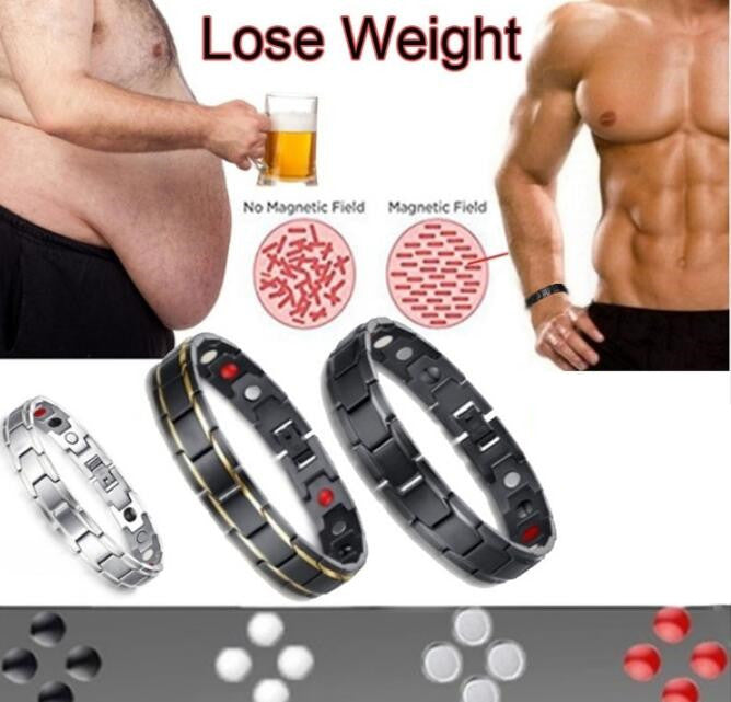 Elegant Stainless Steel Magnetic Therapy Bracelet