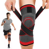 Knee Brace Compression Sleeve with Stabilizer Straps