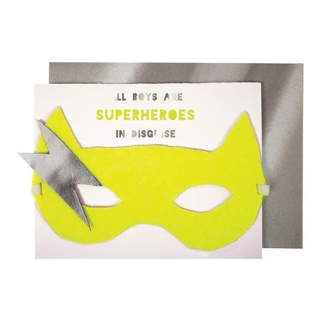 Meri Meri Boy Superhero Card