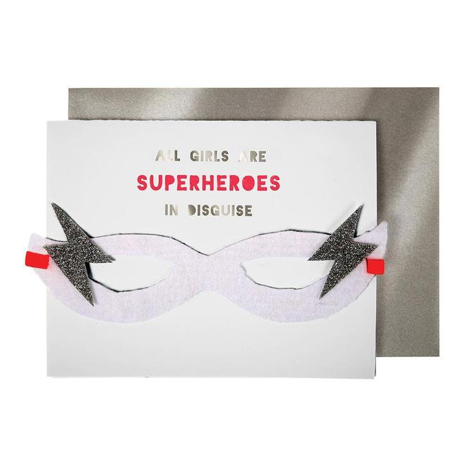 Meri Meri Girl Superhero Card