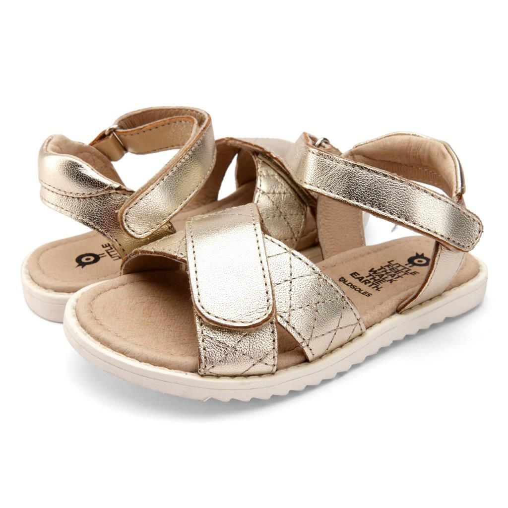 Old Soles Quilt Chique Sandal - Gold