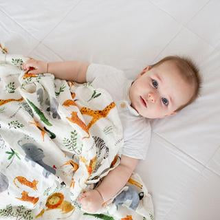 Loulou Lollipop Bamboo Swaddle-Safari