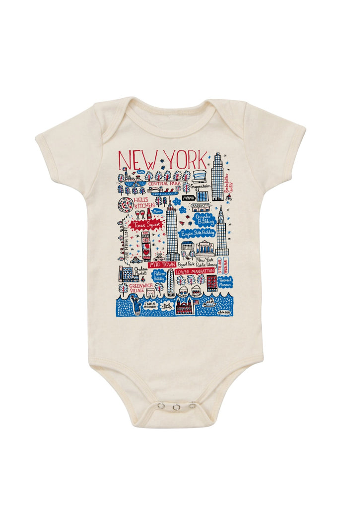 NYC Boutique Map Onesie