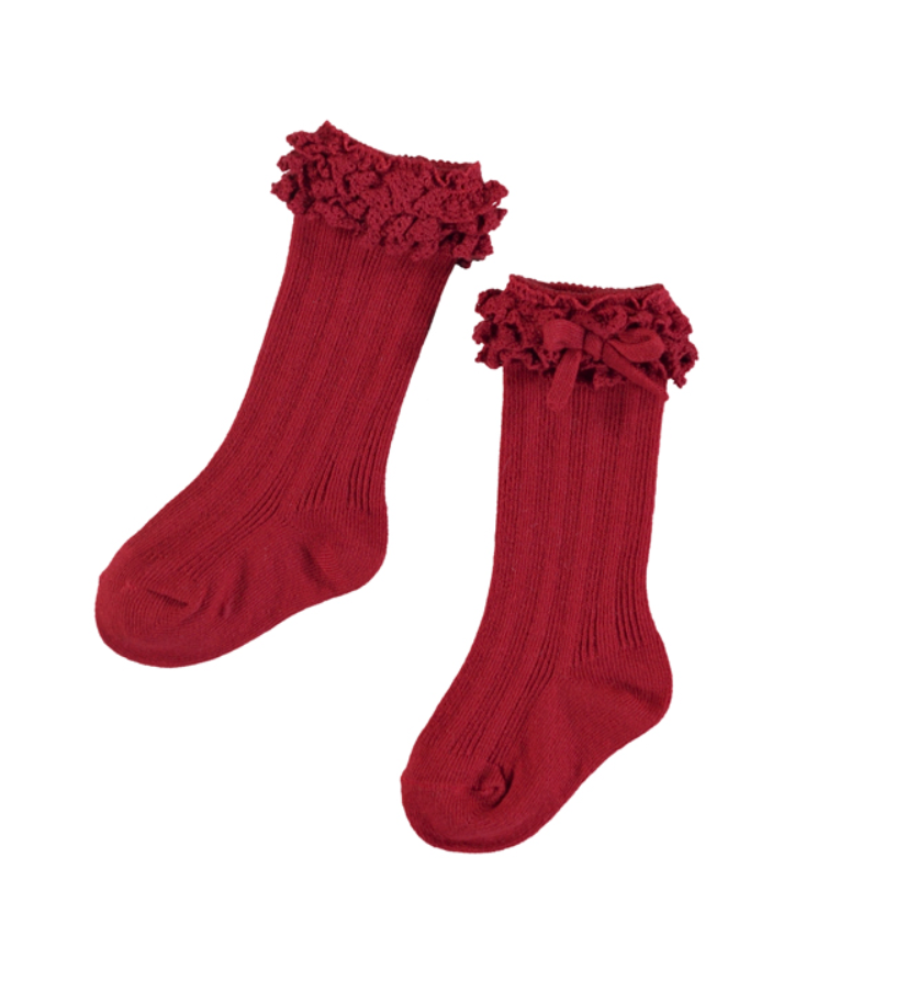 Mayoral Knee High Ruffle Socks