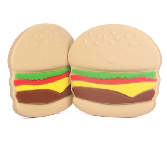 LouLou Lollipop Single Teether - Burger