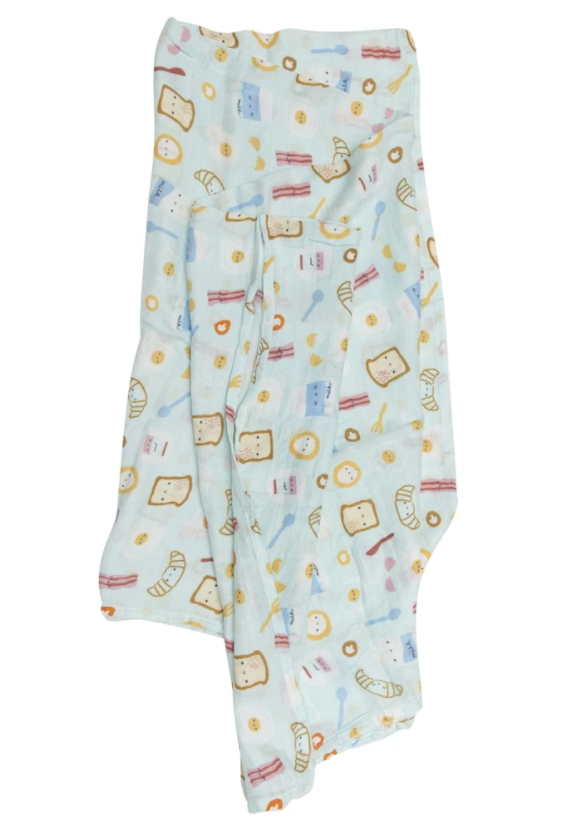 LouLou Lollipop Blue Breakfast Swaddle