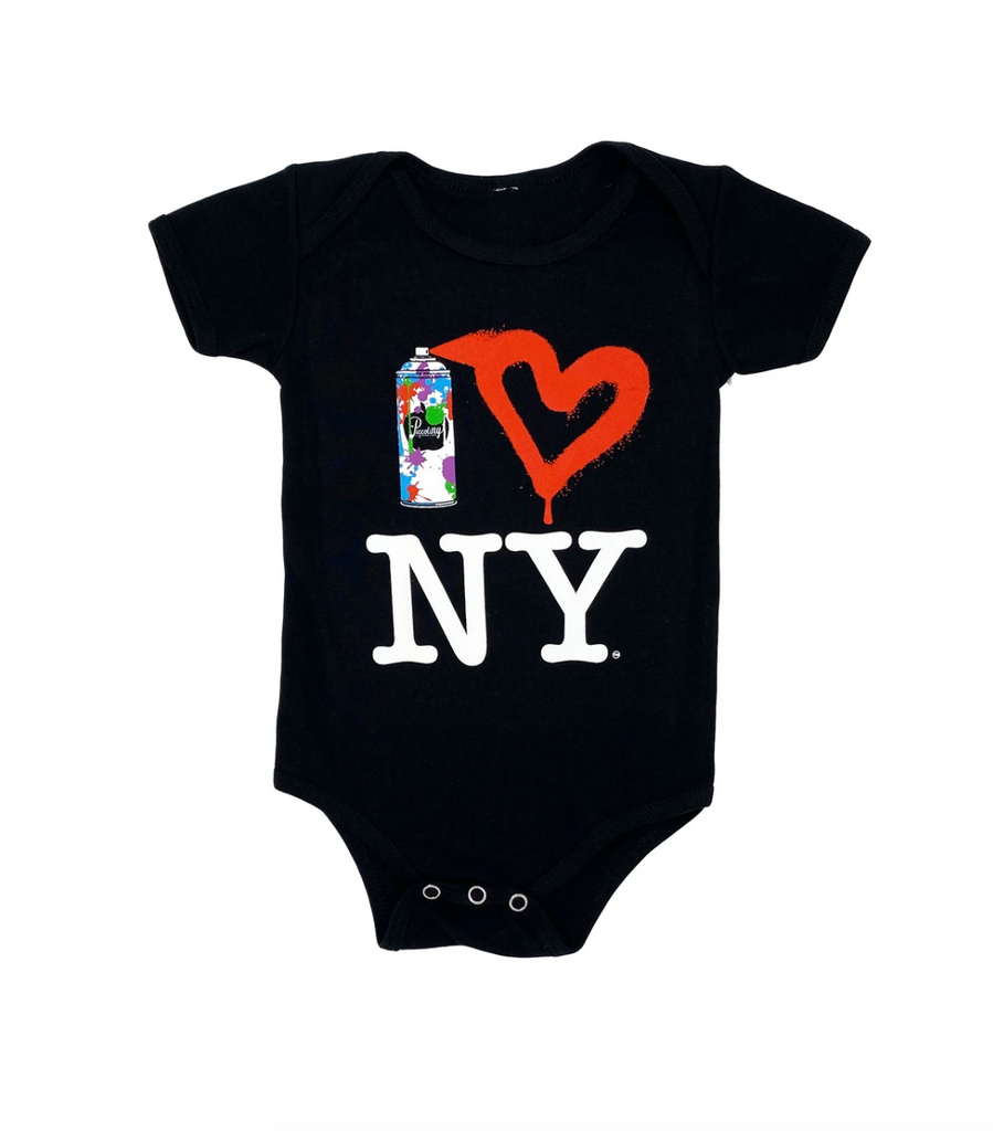 Spray Paint Heart NY Onesie