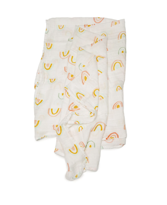 LouLou Lollipop Pastel Rainbow Swaddle
