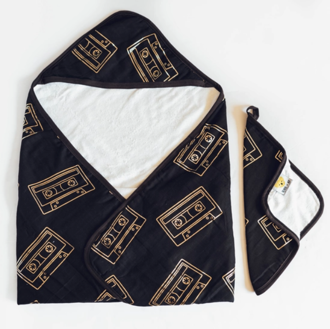 Oliver + Kit Mixtape Towel & Washcloth