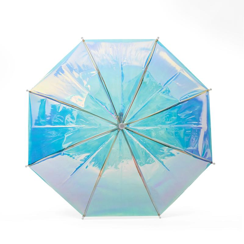 FCTRY Holographic Umberella - White