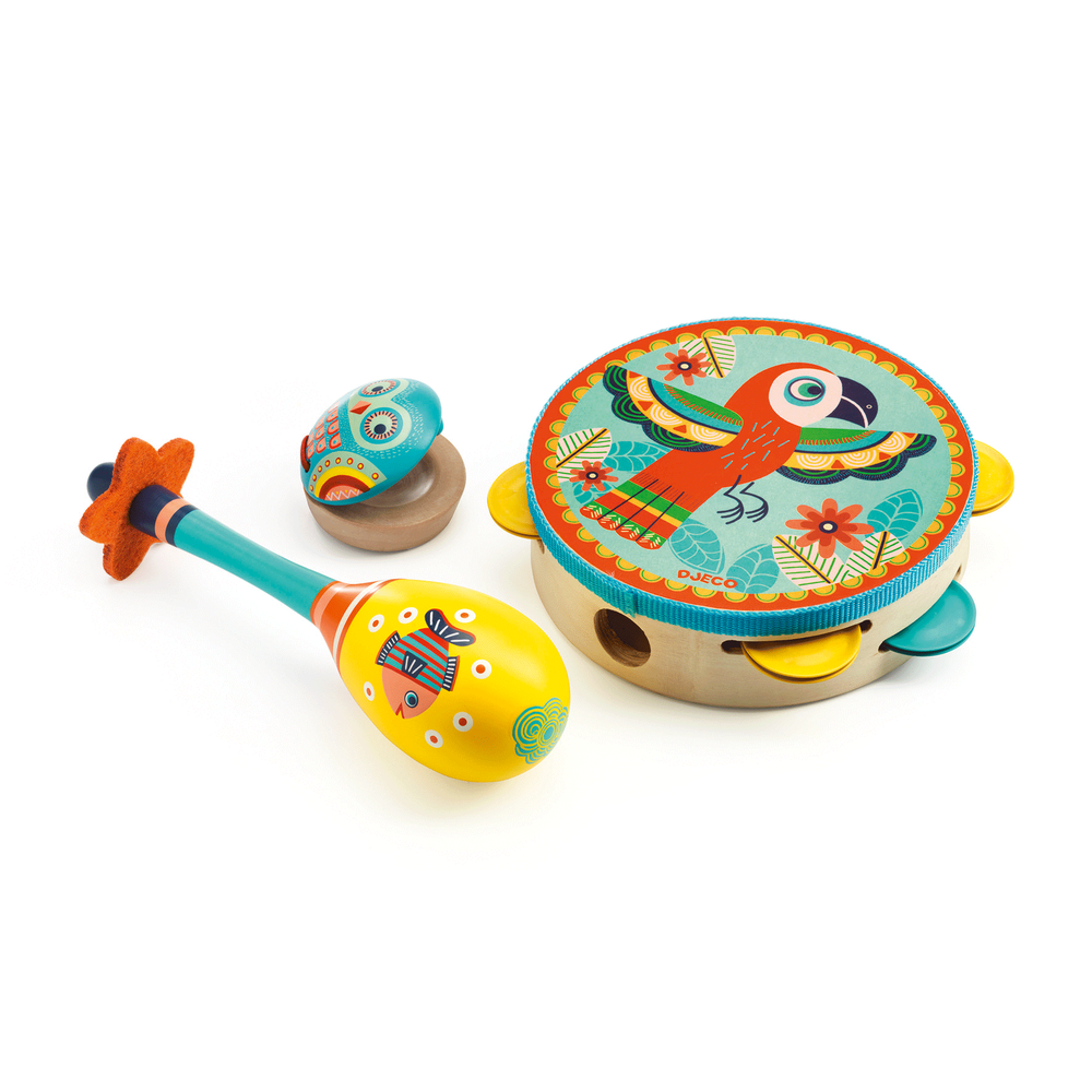 Djeco 3pc Tambourine Set