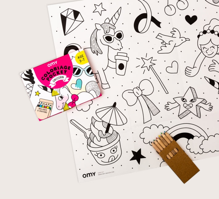 OMY Pocket Coloring - Unicorn
