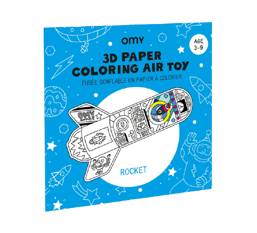 OMY 3D Coloring Rocket