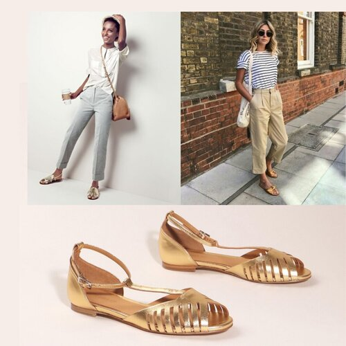 How to style gold sandals
