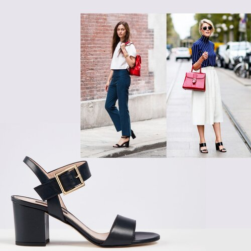 How to style block heel sandals