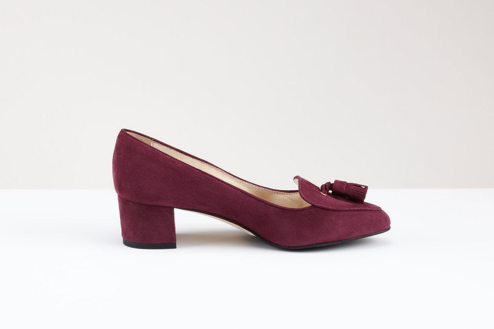 Raffy Burgundy Suede