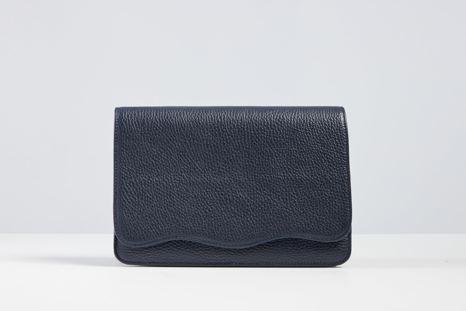 Navy Crossbody Scallop Bag