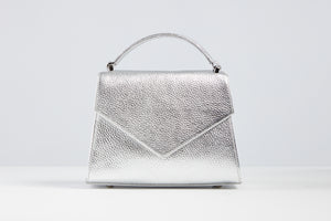 Silver Metallic Envelope Bag
