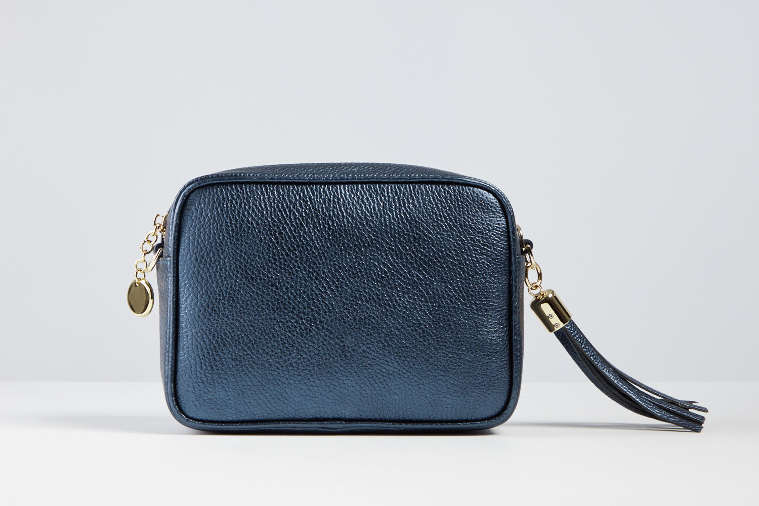 Sophia Metallic Blue Tassel Bag
