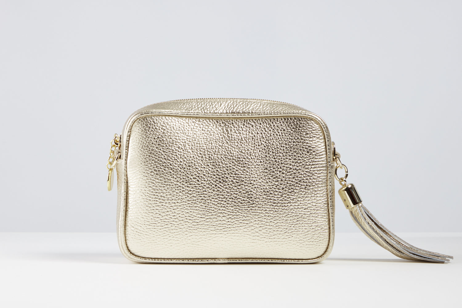 Sophia Metallic Gold Tassel Bag