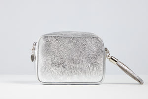 Sophia Metallic Silver Tassel Bag