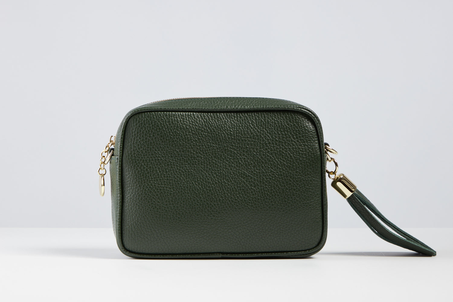 Sophia Forest Green Tassel Bag