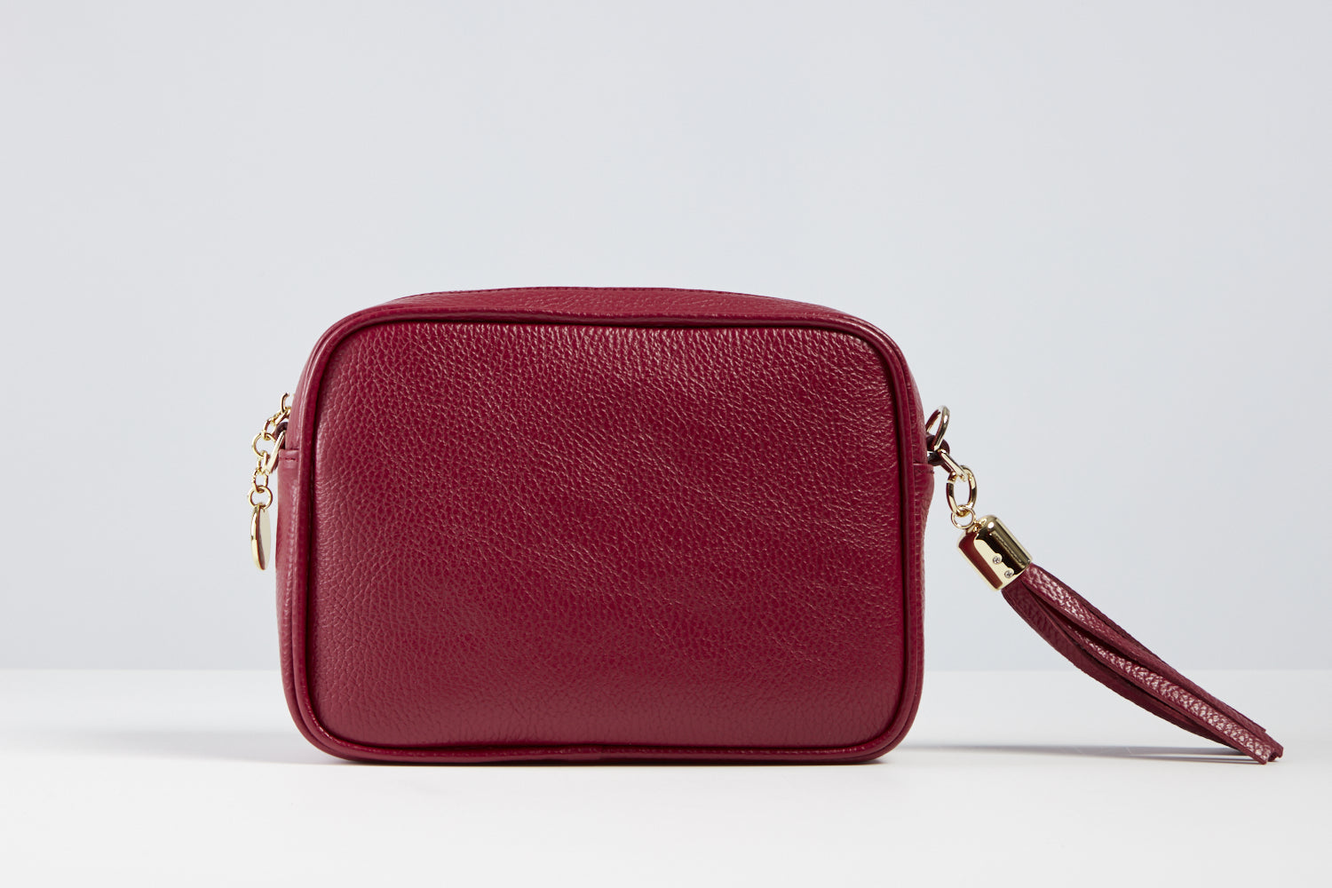 Sophia Bordeaux Red Tassel Bag